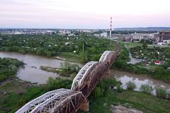 Most żelazny na rzece wisłoka w Dębicy
