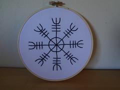 Aegishjalmur (Alexandra Montclair) Tags: symbol embroidery viking aegishjalmur