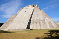Pyramid of the Magician, Uxmal, Mexico (Oliver J Davis Photography (ollygringo)) Tags: travel building heritage history archaeology stone architecture mexico mesoamerica construction ancienthistory ancient nikon ruins pyramid maya stonework masonry yucatan unescoworldheritagesite worldheritagesite yucatn mayan civilization archeology civilisation americas mayas uxmal precolombian centralamerica worldheritage magician d90 steppyramid yucatnpeninsula oliverdavisphotography oliverjdavisphotography