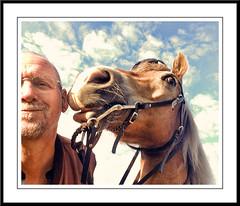 Pret met Sarah (gill4kleuren - 12 ml views) Tags: horse me sarah fun lol gill saar paard pret haflinger