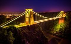 Clifton Suspension Bridge (technodean2000) Tags: uk england night bristol landscape nikon lightroom thecliftonsuspensionbridge d5200 spanningthepicturesqueavongorge isthesymbolofthecityofbristolforalmost150yearsthisgradeilistedstructurehasattractedvisitorsfromallovertheworlditsstorybeganin1754withthedreamofabristolwinemerchantwholeftalegacytobuildabridgeoverthegorge