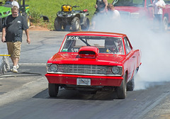 Dodge Dart 5.99 class car at Shady Side (Thumpr455) Tags: auto red car june nc nikon northcarolina class shelby dodge autoracing mopar burnout dart dragracing d800 2015 599 worldcars afnikkor80200mmf28d shadysidedragway outlawradialshootout2