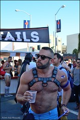 Folsom Street Fair 2016 -  Wayfarer! (Little Italy Photography) Tags: nikond7100 nikon nikondigitalslr sanfrancisco ca nikon35mmf18gafsdxlens men leather boys view exhibitionist california folsomstreetfair streetfairs costumes tats chest bare neighborhoods events hairychest muscle folsomleatherfestival tattoos smokinghot stud mansman face women hunk harnesses colors styles makeup hats beards folsom2016 people masks feathers angelwings folsomdore dogs kink bdsm red bondage streetfair