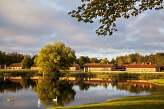 I once lived in a village. (BirgittaSjostedt- away for a while.) Tags: industrialenvironment tourist nature autumn morning reflection water swans landscapes house tree sweden birgittasjostedt ~themagicofcolours~xiv