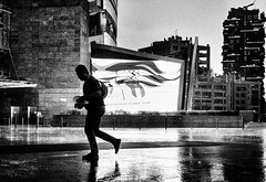 Into the Storm (pt.2) (Petricor Photography) Tags: black white blackandwhite and street photography canonpersonalconnection candid milan milano rain rainy