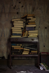 Well Read.(Explored) (5PR1NK5 Photography  Off The Beaten Track Urban) Tags: urbex urban exploring explore discover find abandoned house cottage woods woodland decay decaying forgotten left behind memories past derp derelict beauty books read dusty dark moody eerie spooky travel trespassing warm tale canon lightroom photography 5pr1nk5