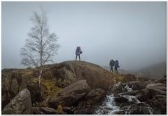 Wilderness campers (Hugh Stanton) Tags: stream rocks fog mist backpackers campers appickoftheweek