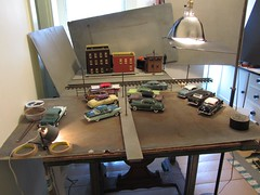Setup Shot - On My Father's Shoulders (Michael Paul Smith) Tags: setup shot 124th scale models diecast cars diorama
