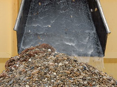Pebbles From Beach Sand (mikecogh) Tags: glenelg pebbles pile sifting tray ripples