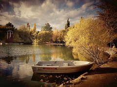 Pintura fotogrfica #llac #lake #lago #landscape #lacerdanya #Puigcerd #estany #otoo #autumn #fall #trees #arboles #hojas #leaves #barca #boat #colores #colors (Miamy7) Tags: instagramapp square squareformat iphoneography uploaded:by=instagram naturalez naturaleza cautivadora naturalezacautivadora lago lake otoo autumn fall arboles trees colores colors paisaje barca boat landscape