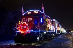 CP Holiday Train (cjb_photography) Tags: train locomotive cp holiday trainspotting track rail railway festive christmas night nightphotography nighttime weownthenight 2246