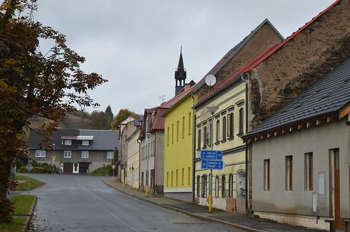 Blick auf die Straße Námestí