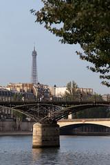 Pont des Arts (Mikey Down Under) Tags: river seine paris france eiffel tower bridge portrait pontdesarts iron arch