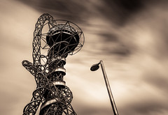The Orbit (Fujismooji) Tags: orbit london stratford olympic park lee filters long exposure big stopper light lamp clouds whispy