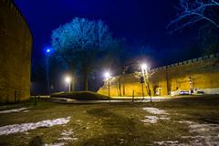 kopiec kosciuszki - night light (michalbiernat) Tags: kopiec kosciuszki night krakow poland blue sky tree street