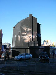 Manchester street art (rossendale2016) Tags: manchester street art gable end massive picture baby portrait clever unbelievable artistic architectural ladder wide tall main road seen miles