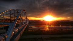 sunset (20EURO) Tags: sunset sonyso01f xperiaz1 xperia sun twilight evening orange bridge shine autumn reflection river neighborhood natuer landscape cloud hdr walk shore shining   tokyo ironbridge mobile