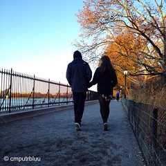 Autum Walk (cmputrbluu) Tags: centralpark nyc newyorkcity autumn iphoneography iphone iphone4s