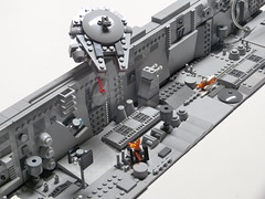 Micro Trench - Mod 2 (Dodge...) Tags: lego slug 2016 starwars trench run micro xwing falcon grey bley tiles movie scene classic pewpew