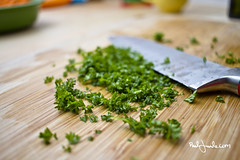 Dinner time (Paal Lunde) Tags: dinner time paal lunde design og foto photo cooking herbs parsley cutting board knife paallundecom canon 24mm strobist strobe bounce