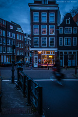 Coffee in the darkness (farflungistan) Tags: amsterdamcanals fall2016 amsterdam brouwersgracht holland netherlands sunrise