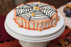 Halloween Cake With Web Design (Transient Eternal) Tags: events food halloween october autumn bake black cake candies candy cook cream creamy dessert dough fall frosting gettogether ghosts holiday icing layers orange party plate round serve serving snack sugar sweet table trickortreat vanilla web