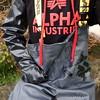 Vass-Gülle7056 (Kanalgummi) Tags: rubber gloves chestwaders waders wathose gummihandschuhe alpha industries bomber jacket bomberjacke