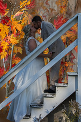 2016 Weddings (Michael L Coyer) Tags: weddings church weddingceremony bride groom door kiss firstkiss autumn leaves steps stairway stairs railing wedding fall