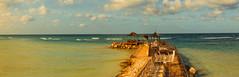 HVAR-2352-Pano.jpg (HVargas) Tags: boardwalk scenicview foreshoreways oceanway landscape magicocean caribean overlookingbeaches panorama oceanscape clouds oceanfront beach ocean walkingpaths travel pedestrianwalkway promenade island boardedpath jamaica desk vacaciones nubes