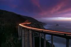 Night Lights (Matt Grans Photography) Tags: bixbybridge bigsur california twilight sunset ocean clouds evening night