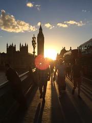 Sunset on Westminster Bridge (ianoak) Tags: sunset bigben housesofparliament westminster palaceofwestminster parliament westminsterbridge