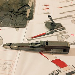 Under construction (339/366) (garrettc) Tags: metalearth xwing starwars kit home 366 365