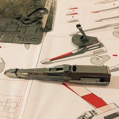 Under construction (339/366) (garrettc) Tags: metalearth xwing starwars kit home 366 365