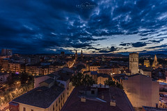 The Night (michelangelo_84) Tags: nikon d5100 logroño españa spain larioja le longexposure landscape cityscape night noche nocturna sigma sigma1020 sun clouds nubes sol atardecer dusk city ciudad awesome nd64x nd sky cielo