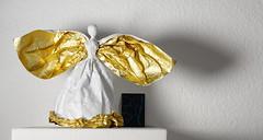 Mini Ezra (Yureiko) Tags: yureiko skulptur sculpture papierfalten papier art kunst origami paperfolding paper   shiborigami
