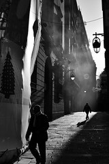 The Nightmare Before Christmas (Sergi_Escribano) Tags: sergiescribano architecture gettyimages sergiescribanophotography streetsofbarcelona documentaryphotography barcelonastreetphotography spainstreetphotography barcelona lightanddarkness blackandwhite blancoynegro backlighting barrigotic monochrome monocromtico noircity mist light city shadows silhouette