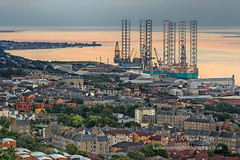 Dundee Rigs (Shuggie!!) Tags: aerialview drillingrigs dundee eveninglight firthoftay flats harbours hdr houses industry landscape rivertay rivers scotland sea zenfolio karl williams karlwilliams