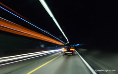 Ray chase (joerimages) Tags: transportation tunnel car dark rays chase follow drive asphalt underground speed movement lights fast
