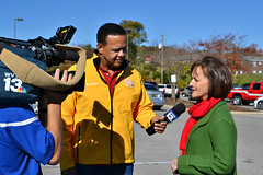 WVTM 13 getting the scoop (CFBCA) Tags: news station wvtm 13 interview community food bank central alabama canathon canned drive holiday