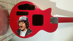 ST Guitar back (Philip Osborne Photography) Tags: strangerthings eleven 11 red mockup rokaxe 1983 lespaul guitar instrument back art custom theme dustin