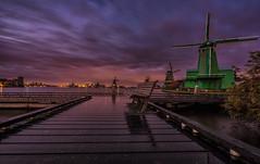 Zaanse Schans (mcalma68) Tags: zaanseschans windmill dutchlandscape longexposure sunset