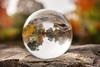autumn in a crystal ball (Sabinche) Tags: crystal ball reflection autumn fall