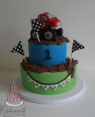 MONSTER TRUCK CAKE (cakewalkdesserts) Tags: cake mud monstertruck