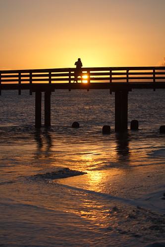 Sunset over Waimea Pier