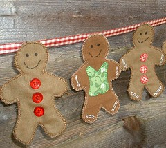 Men on fence (The Patchsmith) Tags: buttons gingerbread gingham ribbon gingerbreadman bunting patchsmith