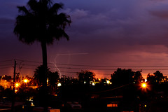 (caitlin.carter) Tags: arizona storm phoenix silhouette multipleexposure midtown thunderstorm lightning composited