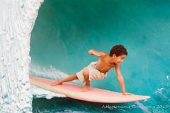 Catchin' some tube (Adam Hagerman) Tags: adam beach lomography nikon florida kodak 400 fl 100 cocoa f5 lightroom hagerman