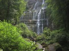 l'Eventail - une des cascades du Hérisson