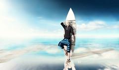 Surf me Up (iBi 8f8) Tags: ocean sea summer sky sand surf azure sl secondlife gra