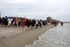 IMG_5288 (yiching.lin) Tags: nyc newyorkcity beach brooklyn fun coneyisland sand dress formal improv tux improveverywhere coneyislandbeach